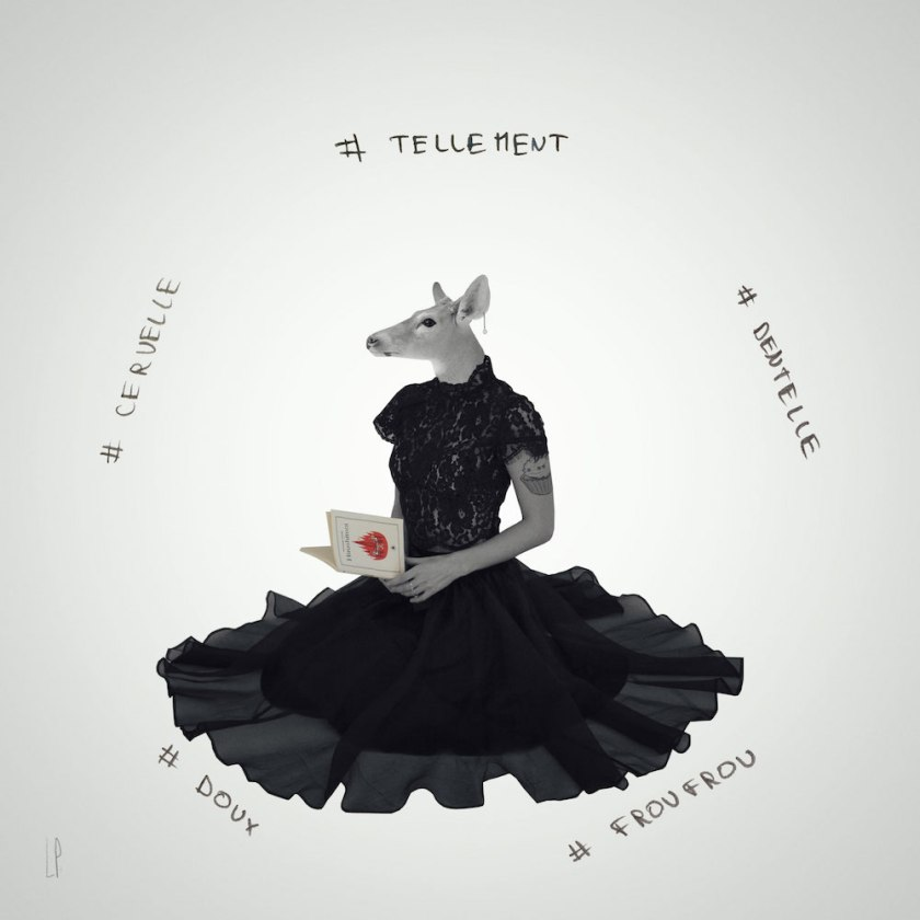 La biche pensive #2 / Luc Pallegoix, 2016.  À VENDRE - FOR SALE 📣👨🏻🎨 [ 23 x 23 cm ] Cadre noir 💵 150 $ + taxes [ 50 x 50 cm ] Cadre noir 💵 500 $ + taxes